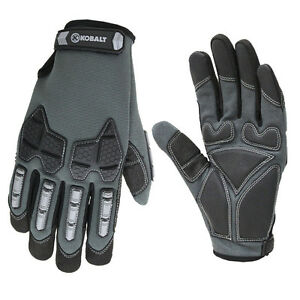 Medium Men Mechanic Construction Protective Synthetic Leather Safety Work Gloves