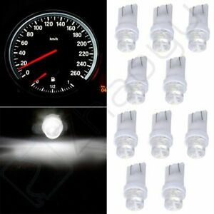 10x Dash Gauge Cluster Panel White Led Light Bulbs T10 W5w 168 194 For Toyota