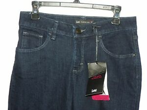 Lee Classic Fit Straight Leg Denim Jeans Stretchy Size 4 Petite NEW with Tags