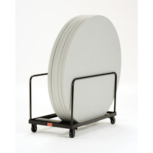 Wheeled Swivel Casters Steel Stack Round Folding Table Dolly Truck Utility Cart