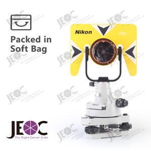 Single prism tribrach set reflector system for nikon total station surveying