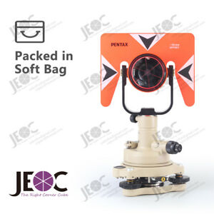 Single prism tribrach set reflector system for pentax total station surveying