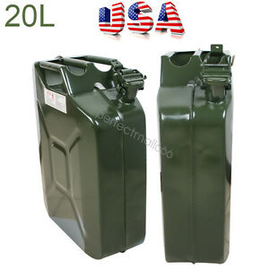 20l 5 Gallon Jerry Can Oil Fuel Gas Steel Tank Military Style Tank Sealed