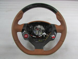 Ferrari California Steering Wheel Carbon Fiber Led Cuoio Used P N 82023624
