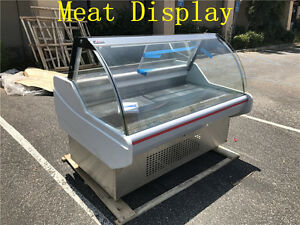 60 Ins Commercial Freezer Refrigerated High Deli Meat Display Seafood Case Fish