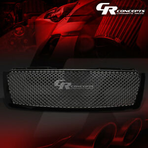 Black Diamond Mesh Grille Grill Guard For 07 14 Chevy Tahoe Avalanche Suburban