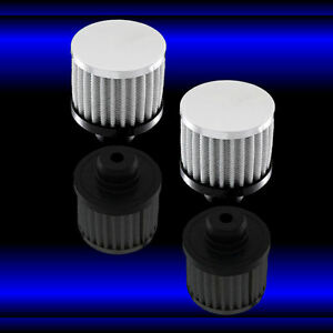 Valve Cover Breathers 3 Inch Filter Style Fit Olds 330 350 455 Chrome Set Of Two