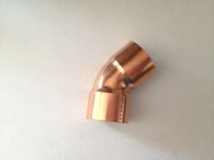 Lot Of 10 3 4 Copper Fitting 45 Degree Elbow Plumbing Fitting