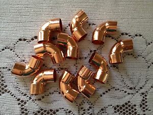 Lot Of 20 1 2 90 Degree Copper Elbow Fitting Cxc plumbing Parts Ship Fast