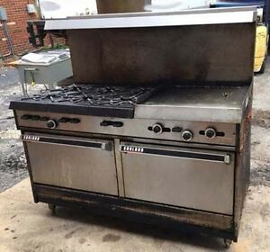 Garland 6 Burner Range With Flat Grill And Double Standard Oven Base