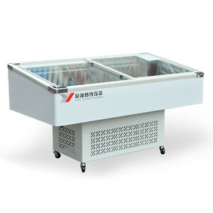 60 Insfish Cabinet Seafood Meat Case Freezer Display Ms60