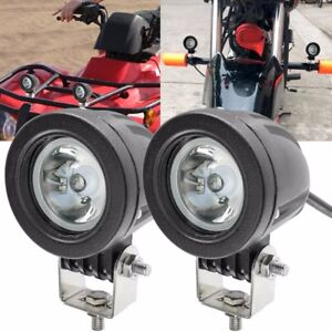 2x 10w Led Work Light Offroad Driving Fog Lamp Spot Motorcycle Atv Utv