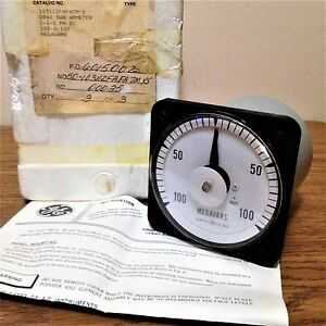 General Electric 103112fafa7mys Db40 Swb Ammeter 100 0 100 Megavars