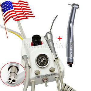 Portable Dental Turbine Unit With Water Bottle High Speed Handpiece From Usa