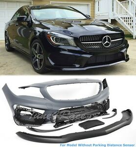 For 14 16 Mercedes Benz Cla 250 45 Front Bumper Amg Style No Parking Sensors Adn