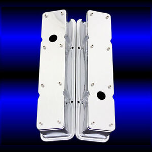Chrome Valve Covers Tall 2 Piece For Small Block Chevy Engines Removable Top