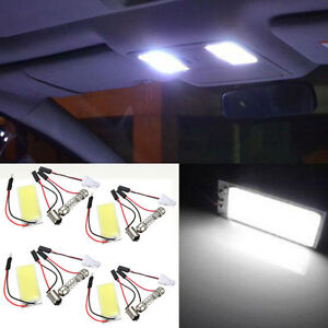 4pcs T10 Cob 36 led Interior Light Panel Festoon Dome Car Bulb White For Toyota