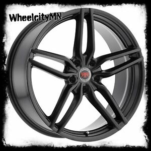 20 Inch Black Revolution Racing Rr16 Wheels Rims Ford Mustang Fusion Edge 5x4 5