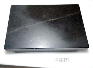 Black Granite Surface Plate Double Edge 18x12x3 inv 26727