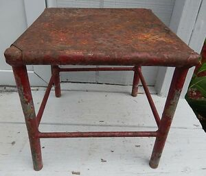 Neat Hand Made Vintage Antique Steel Milking Stool