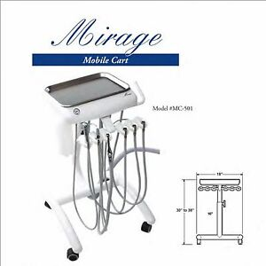 Tpc Dental Handpieces Mobile Unit Cart With Vacuum Package fda