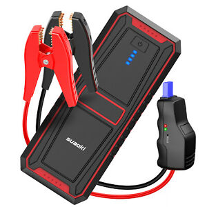 12000mah Car Jump Starter Pack Booster Led Type c Usb Charger Battery Power Bank