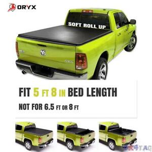 Soft Roll Up Tonneau Cover For 04 06 Silverado sierra 5 Ft 8 In 68 In Bed