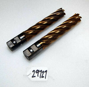 Pair Of Used End Mills inv 29727