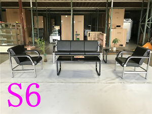 Office Leather Sofa Sofas Set Reception Seating Set Condo Couch Section