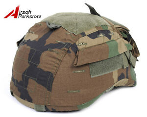 Emerson Ver2 Tactical Helmet Cover for MICH TC-2001 ACH Helmet w Pouch Woodland