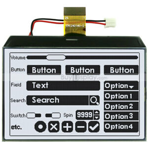 3 4 graphic Lcd Cog Module 240x160 single Sided Fpc optional Touch Panel Screen