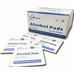 Alcohol Prep Pads Swabs Wipes 200 bx Dental Medical Tattoo Beauty Health fda