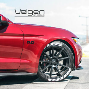 20 Velgen Vmb9 Black Concave Wheels Rims Fits Ford Mustang Gt Gt500