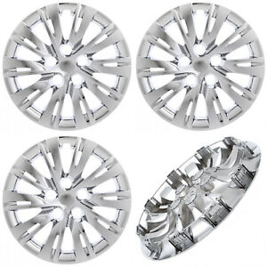 4pc Fits Toyota Camry 2007 17 16 Inch Chrome Hub Caps Cover For Steel Wheel Cap