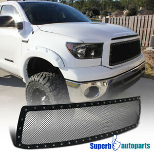 For 2010 2013 Tundra Upper Front Main Hood Grille Insert Rivet Stud Mesh Wire