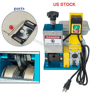 Us Stock Powered Electric Wire Stripping Machine Metal Tool Scrap Cable Stripper