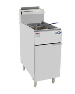 Nsf 40 Lb Commercial Stainless Steel Deep Fryer Natural Gas