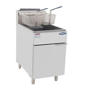 Nsf 75 Lb Commercial Stainless Steel Deep Fryer Natural Gas