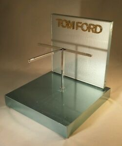 New Tom Ford Sunglass Eyeglass Display stand Metal Silver gold Very Heavy