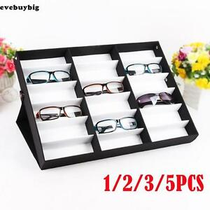 1 5pcs Storage Display Box Eyeglass Eyeglasses Sunglasses Organizer 18 Grid Slot