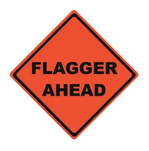 Safety Flag Road Traffic Control No Header Vinyl 36 X 36 Rrs 36
