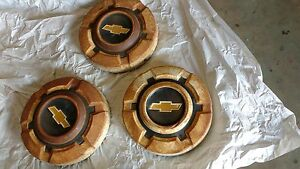 3 68 72 Chevy Pickup Truck Dog Dish Wheel Hub Caps Oem 1500 Chevrolet