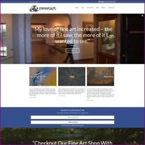 Fine Art Website Business For Sale 1 200 00 A Sale Free Domain Hosting