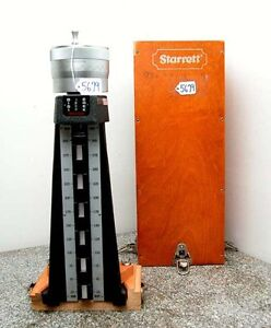 Starrett Metric Digi Check Model 258m With Wooden Box inv 5679