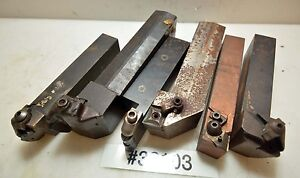 Lot Of Six Turning Tool Holders inv 36103