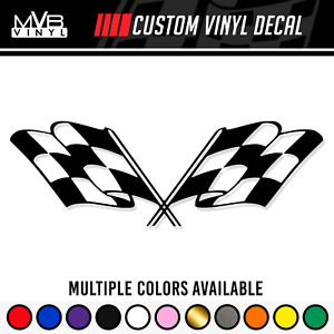 Checkered Racing Flag Vinyl Decal Sticker Rally Race Finish Line Jdm Track 406