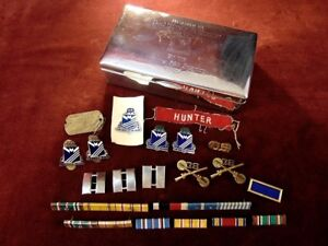 1953 Korean War 38th Infantry Sterling Silver 950 Cigarette Box Insignia