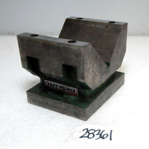 Taft Peirce Solid Body Cast Iron V block inv 28361