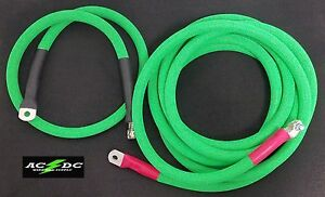 Battery Relocation Kit 4 0 Awg Welding Cable Top Post 12 3 Neon Green Sae