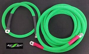 Battery Relocation Kit 4 0 Awg Welding Cable Top Post 20 4 Neon Green Sae